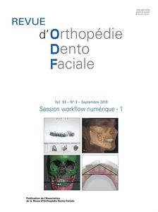 Revue d'Orthopédie Dento-Faciale - Archives 1967-2014