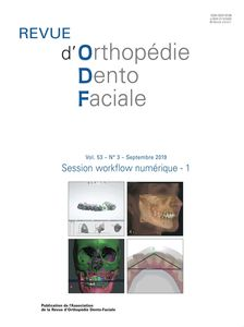 Revue d'Orthopédie Dento-Faciale - Version papier + version électronique 2019