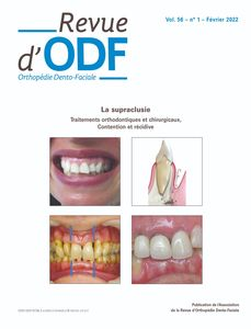 Revue d'Orthopédie Dento-Faciale - Version papier + version électronique 2020 + archives de 1967 à 2019
