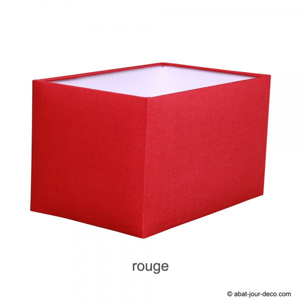 Abat-jour rectangle angle rond en coton