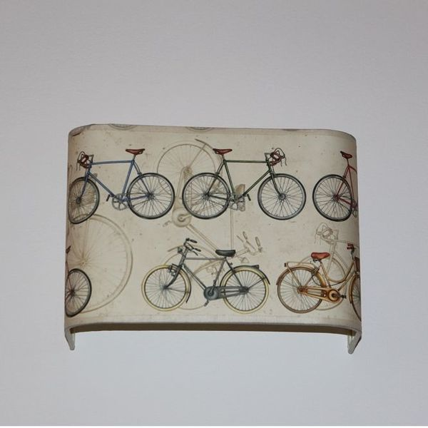 Applique murale rectangle angle rond 26x12x18 cm motif bicyclette