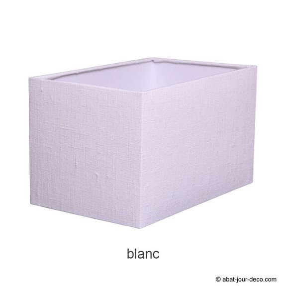 Abat-jour rectangle en lin sur pvc transparent