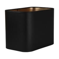 Abat-jour rectangle angle rond en chintz noir et or