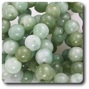 719 89 CT  Natural Jade Bead Necklace