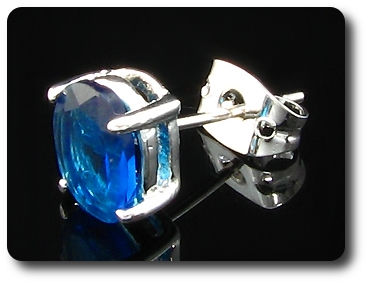 2x9mm Blue Sapphire Earrings