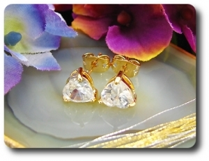 2x7mm Created Diamond Earrings