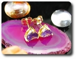 2x7mm Purple Amethyst  Earrings