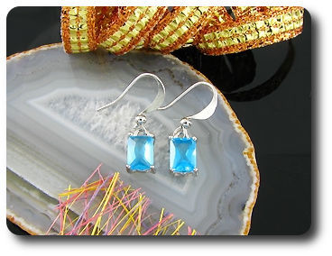 2x7mm Blue Sapphire Earrings