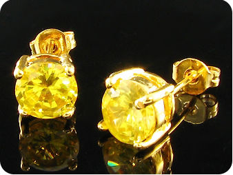 2x7mm Yellow Topaz Earrings