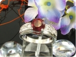 8mm Red Ruby Ring
