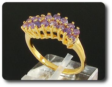 18 x 2mm Purple Amethyst Ring