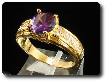 8mm Purple Amethyst Ring
