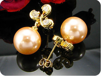 2x12mm Fresh Water Pearl Earrings