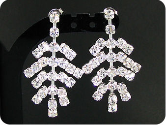 200x3mm Simulated Diamonds Necklace Earrings Set