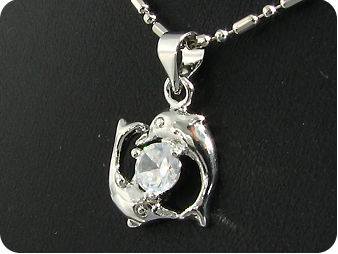 6mm Created Diamond Pendant