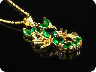 3~7mm Green Emerald Scorpion Pendant