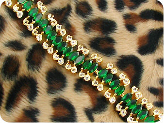 38x6mm Green Emerald Bracelet