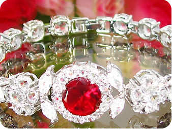 10mm Red Ruby Bracelet
