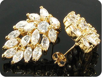32x5mm Simulated Diamonds Earrings