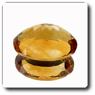 8.81ct BEAUTIFUL OVAL NATURAL GOLDEN YELLOW CITRINE