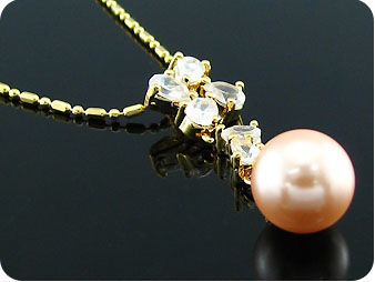 12mm  Pearl  Pendant Earrings Set