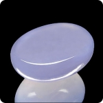 18.85ct MIRACULOUS OVAL LAVENDER BLUE CHALCEDONY