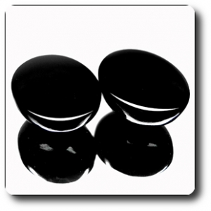 39.76ct 2pcs OVAL 100% NATURAL PREMIER BLACK SPINEL