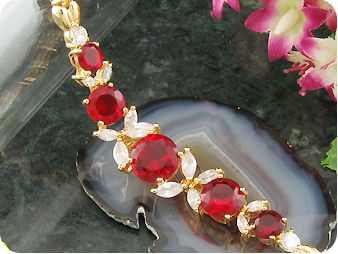 10~6mmx5 Red Ruby Bracelet
