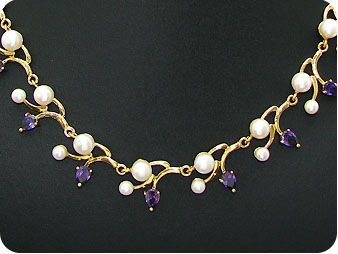 40x8-5mm Fresh Water Pearl Necklace