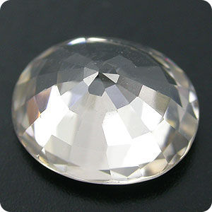 BRILLIANT! 2.84CT. WHITE NATURAL ZIRCON CAMBODIAN