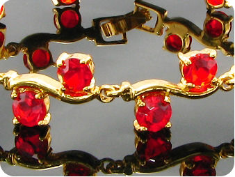 20x5mm Hot Red Ruby Round Cut Gold Stylish Bracelet