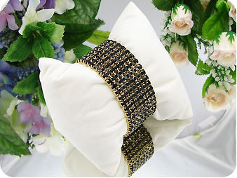 320x3mm Black Sapphire Canival Party Gold Bracelet