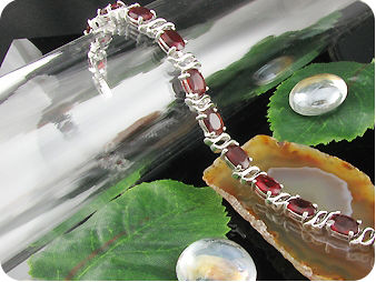 14 x 7mm Red Rubies Bracelet