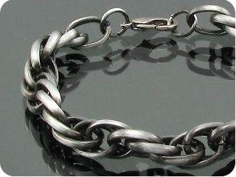Interlcoking Three Rings Men Bracelet