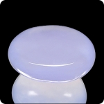19.71ct INCREDIBLE OVAL LAVENDER BLUE CHALCEDONY