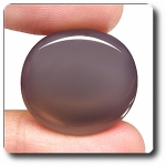 31.67ct REMARKABLE OVAL NATURAL GREY CHALCEDONY