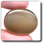 44.91ct MARVELOUS OVAL NATURAL GREY CHALCEDONY
