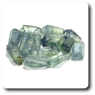 15.80CT.BLUE GREEN NATURAL SAPPHIRE CRYSTAL 15pcs AFRICA