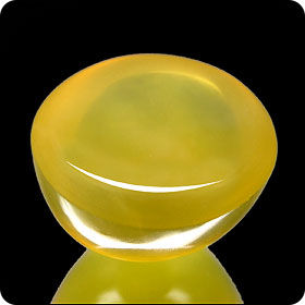 17.50ct AMAZING OVAL NATURAL CANDY YELLOW OPAL