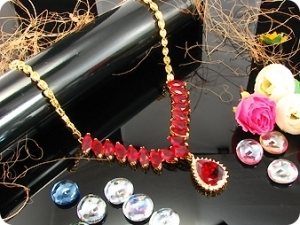 18x20-15mm Red Ruby Necklace