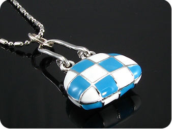 Blue and White  Porcelain Pendant