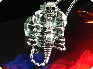 Mysterious Death Scorpion Stainless Steel Men Pendant