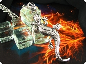 Legendary Flame Lizard Stainless Steel Men Pendant