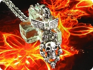 Mysterious The Gates Of Hell Solid Steel Men Pendant