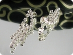 230 x 15-3mm White Simulated Diamonds Necklace Earrings Set