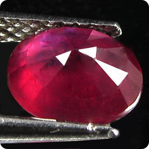 1.35ct  OVAL NATURAL  RED RUBY