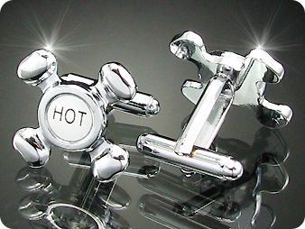 Hot & Cold Water Tag Cufflink