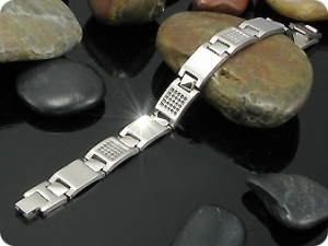 Engraving Pattern Harkmall Men Bracelet