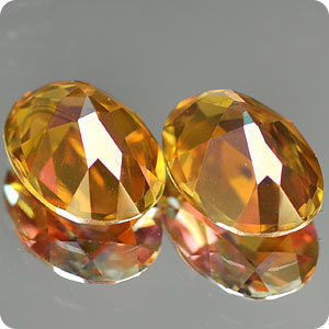 1.69 Ct. Matching Pair Clean Twilight Topaz IF