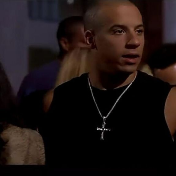 Collier Pendentif + Chaine Croix Fast and Furious Vin Diesel